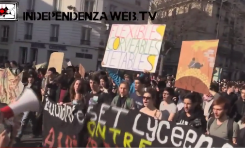 Paryžiuje antra savaitė vyksta protestai prieš naują darbo įstatymą
