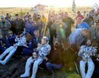 Tarptautinės kosminės stoties ekipažas sėkmingai grįžo į Žemę