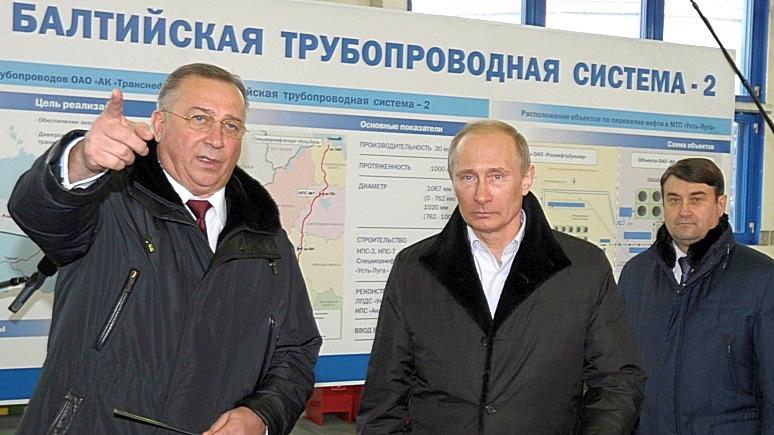 V. Putinas, N. Tokarevas ir RF transporto ministras I. Levitim