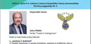 J. Panka: Mažumas išmokysime lietuvių kalbos panaikinant darželius ir mokyklas nevalstybine kalba