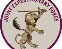 Įvyko pirmosios Jungtinės Karalystės vadovaujamų ekspedicinių pajėgų generavimo pratybos