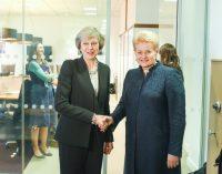 """Prezidentė: """"Derybose dėl """"Brexit"""" Lietuva gins savo žmonių interesus"""""""
