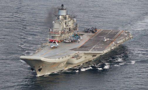 """Paslėpti senojo lėktuvnešio """"Admirolas Kuznecovas"""" ginklai"""