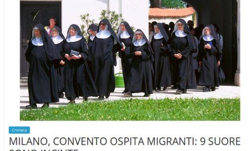 Italijos vienuolyne vasarą prieglaudą susirado 5 pabėgėliai: 9 vienuolės nėščios