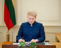 Prezidentė ypatingos skubos tvarka teikia Seimui ratifikuoti sutartį dėl JAV karių statuso Lietuvos teritorijoje
