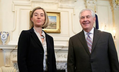 Federica Mogherini: ES išsaugos vienybę antirusiškų sankcijų atžvilgiu nepriklausomai nuo JAV