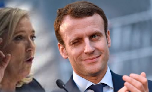 Prancūzija: Pagal išankstinius skaičiavimus Makronas ir Marine Le Pen patenka į antrą turą