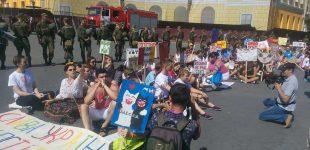 """Odesoje įvyko homoseksualų paradas """"Lygybės maršas"""""""