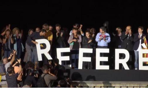 Katalonija referendumo dėl nepriklausomybės išvakarėse