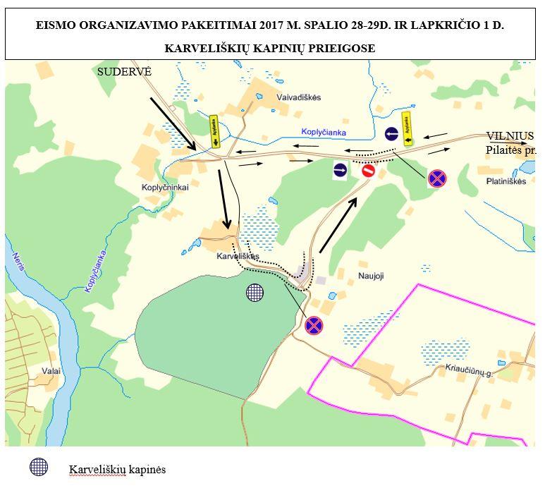 Karveliškių kapinių planas