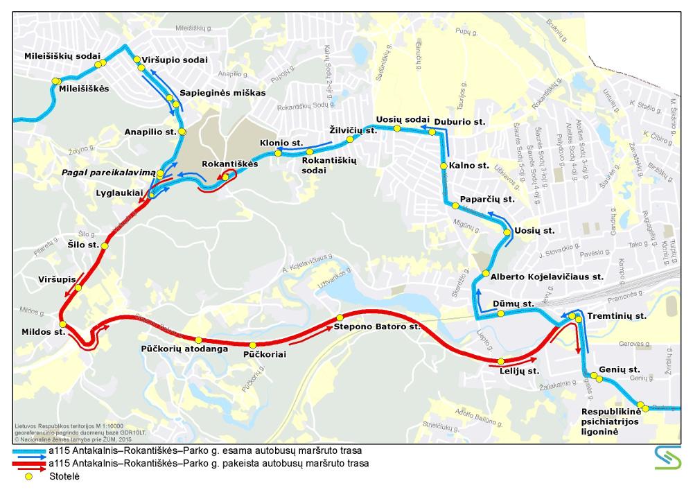 Rokantiškių kapinių transporto planas