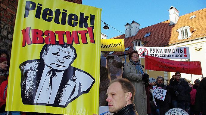 Nacionalinių mažumų protesto mitingas Rygoje