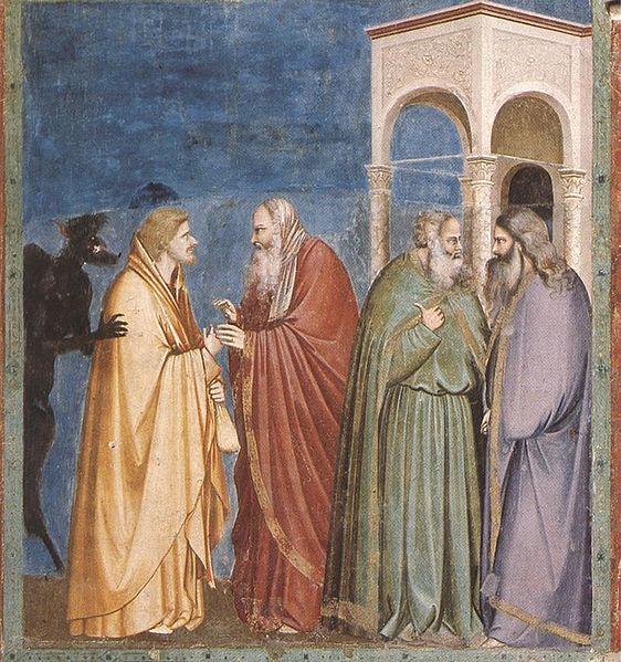 Džoto freskos fragmentas