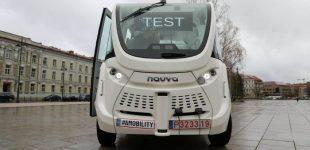 Vilniuje išbandytas pirmasis Lietuvoje autonominis elektromobilis