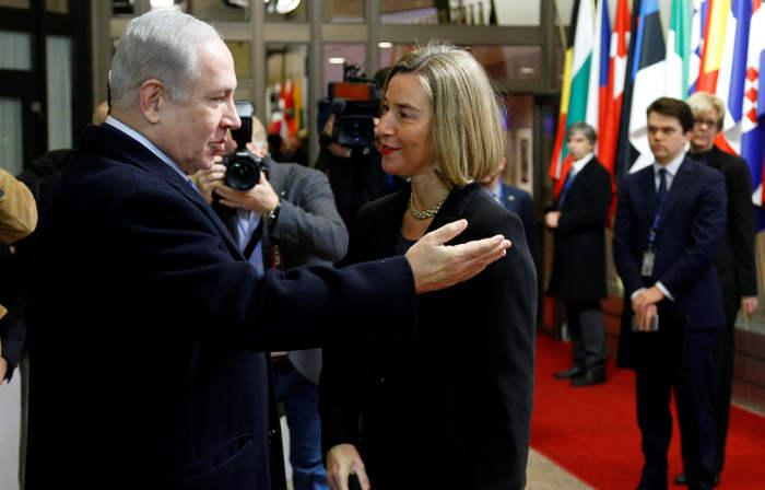 Benjaminas Netanjachu ir Federika Moherini