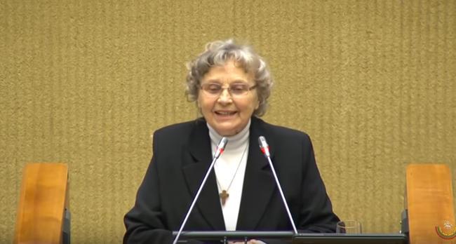 Nijolė Sadūnaite Seime, Laisvės premijos įteikimo ceremonija