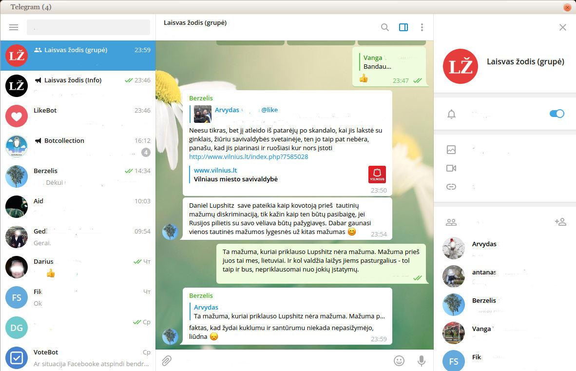 Telegram grupe - kanalai