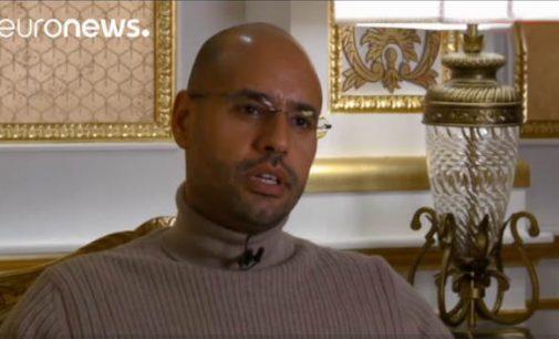 """Muamaro Kadafio sūnus: """"Aš turiu įrodymus, kad Nokolas Sarkozy ėmė pinigus iš mano tėvo"""""""