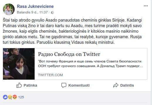 Rasa Juknevičienė - Radio svoboda.ru