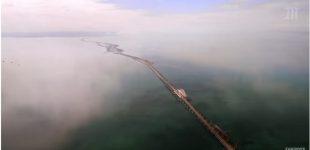 Putinas iškilmingai atidarė didžiausią Europoje tiltą, jungianti aneksuotą Krymą su Rusija
