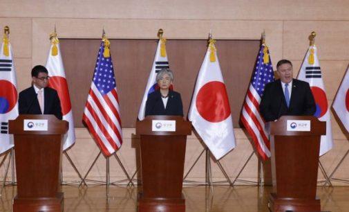 JAV atsisakė panaikinti sankcijas Šiaurės Korėjai, kol nebus pasiektas pilnas branduolinis nusiginklavimas