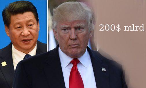 JAV žengė antrą žingsnį prekybos kare su Kinija: muitai 200 milijardų dolerių