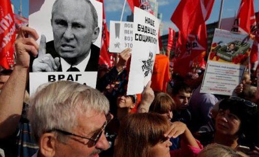 Rusijos komunistai prieš Putino partijos pensijinę reformą