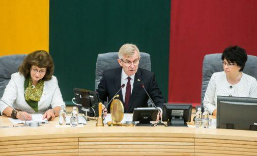 S. Skvernelis ir V. Pranckietis Seime pristatė pagrindinius rudens sesijos darbus