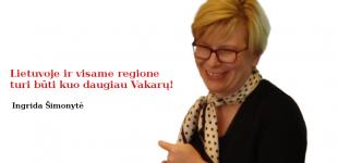 """Ingridos Šimonytės vizija: """"Lietuvoje ir visame regione turi būti kuo daugiau Vakarų"""""""