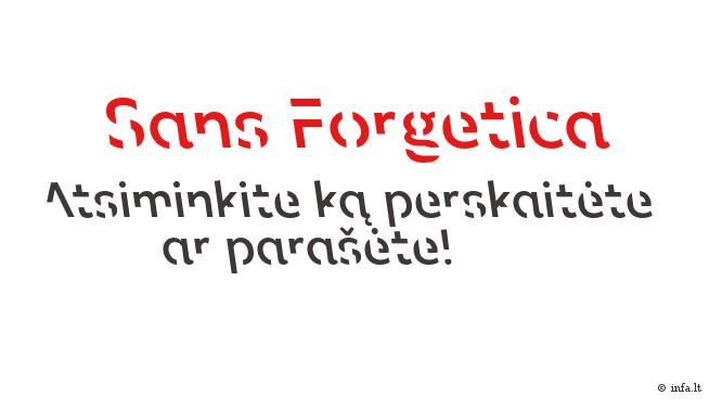 Sans Forgetica - įsimenamas šriftas