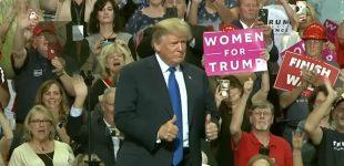 Donaldas Trampas užstojo amerikiečius vyrus