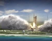 Kaip surenkama nauja sunkiasvorė NASA raketa