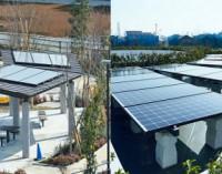 Miestas, energiją gaunantis iš saulės baterijų ir nenaudojantis benzino