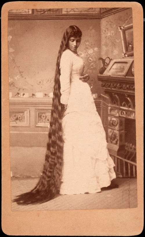 Long Hair Victorian Lady (6)
