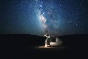paveikslėlis Ekokapsulė naktį