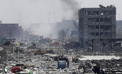 21 tona trotilo nušlavė Tianjin miestą Kinijoje
