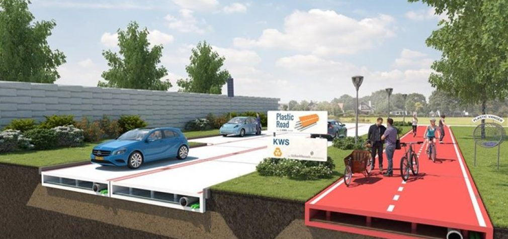 """Olandai pradeda statyti """"amžinus""""plastikinius kelius"""