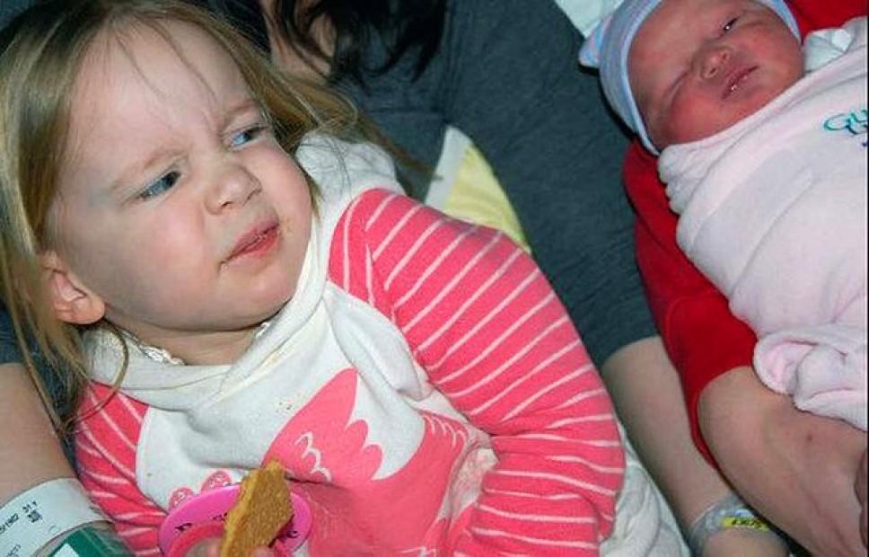Vaikų reakcija į broliuką ar sesutę