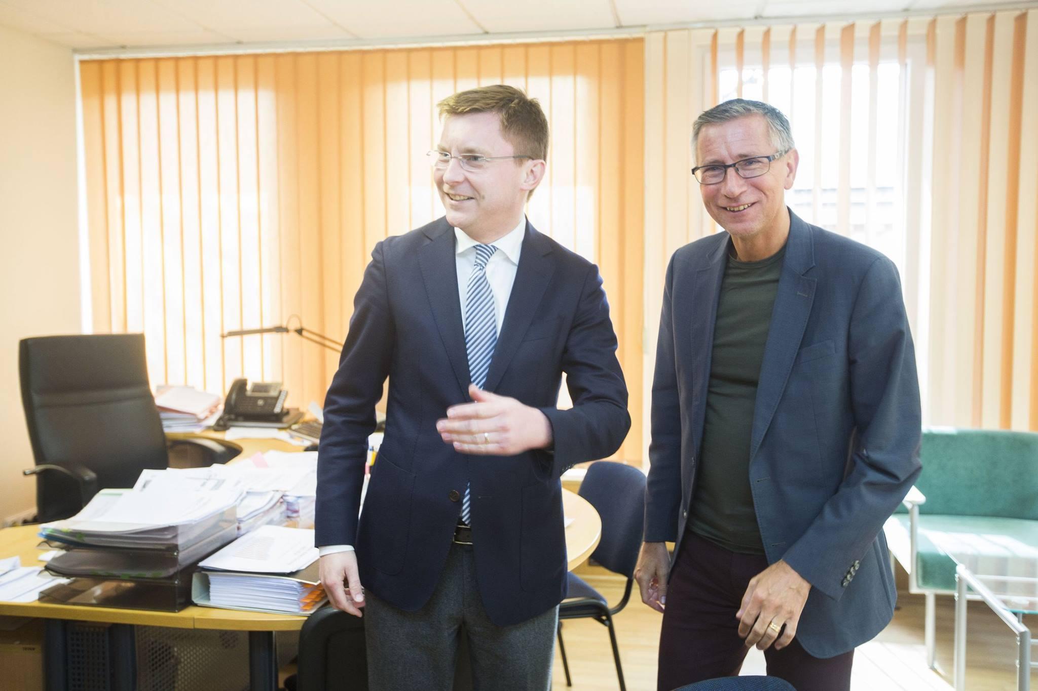 Juras Požela ir Richard Bergstrom. Facebook nuotrauka