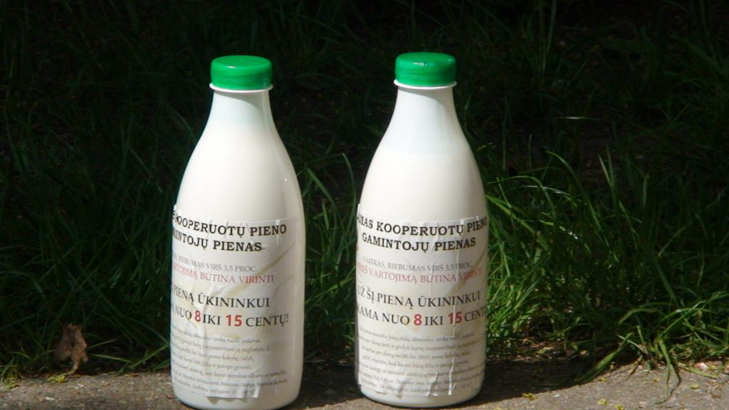 Kiek kainuoj alitras pieno