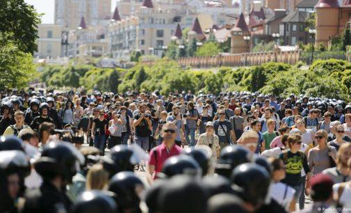 LGBT lygybės marše Kijeve policininkų buvo daugiau nei pačių dalyvių