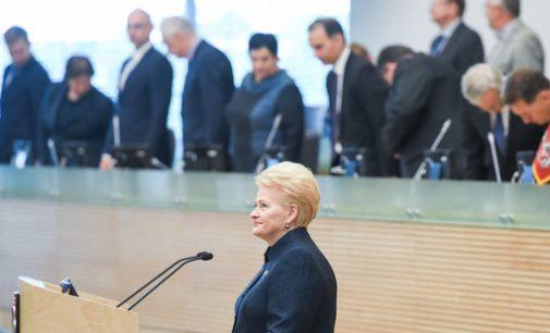 Prezidentė žvelgdama į Lietuvą iš paukščio skrydžio mato neabejotinai gerą vaizdą