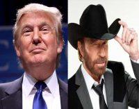 """Čakas Norris ragina """"vėl paversti Ameriką didžia"""" kartu su Trampu"""