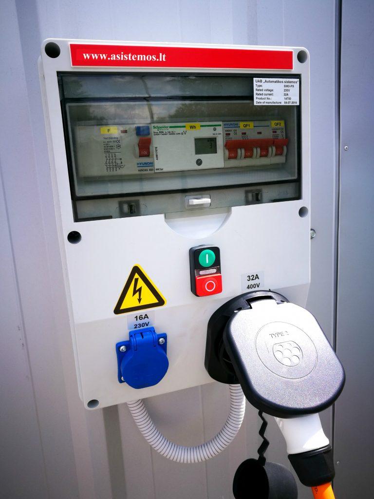 Elektromobilių įkrovimo stotelė 3