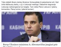 Andrius Kubilius džiūgauja gavęs į komandą didžiai nusipelniusį atkuriant Ukrainos ūkį Aivarą Abromavičių