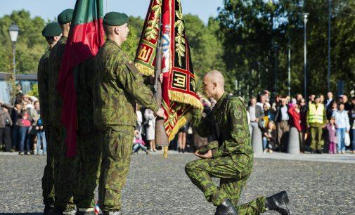 LDK Vytenio batalione Marijampolėje – 89 nuolatinės privalomosios pradinės karo tarnybos karių priesaika Lietuvai