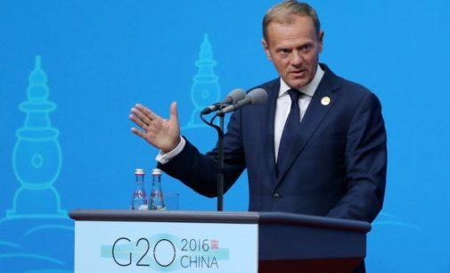 Donaldas Tuskas: ES galimybės priimti pabėgėlius pasiekė ribą