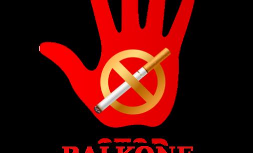 Numatoma uždrausti rūkyti daugiabučių namų balkonuose