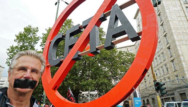 protestai prieš CETA