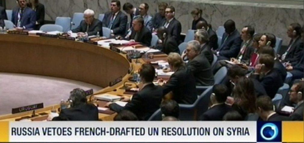 Rusija užblokavo JT rezoliuciją dėl bombardavimo nutraukimo Sirijoje